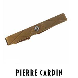 VTG Pierre Cardin Gold-Tone Gem Tie Clip